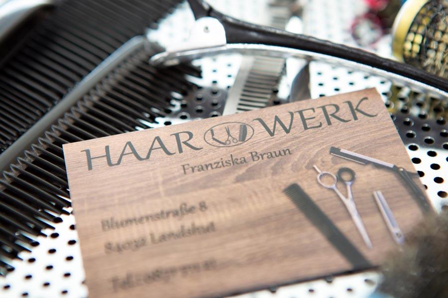 Visitenkarte von Friseur Haarwerk